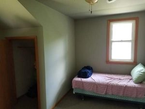 Before view of a room in the East Troy remodel.