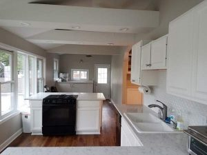 After view of the kitchen of the East Troy remodel.