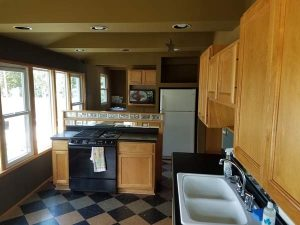 Before view of the kitchen of the East Troy remodel.