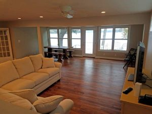After view of the family room of the East Troy remodel.