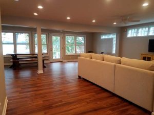 After of the family room of the East Troy remodel.
