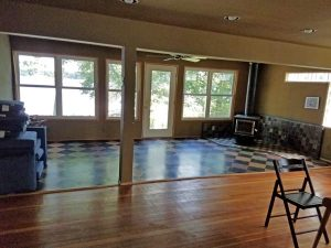 Before of the family room of the East Troy remodel.