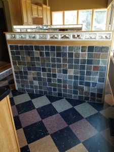 Before of the kitchen/laundry room area of the East Troy remodel.