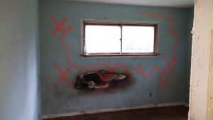 Bedroom before remodel.