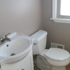 Hartland flip after view of half bath.